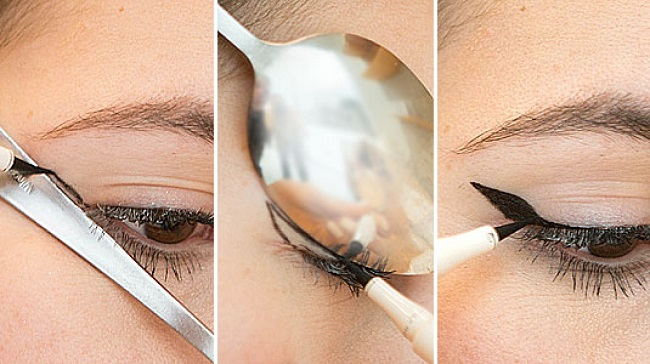 A spoon for the perfect winged liner
