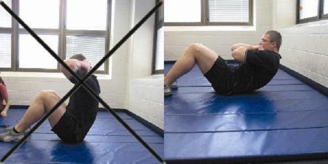 Correct technique or crunches
