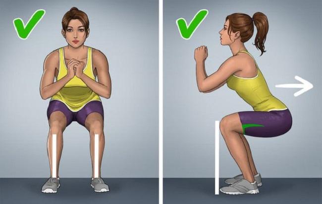 The correct technique for squats