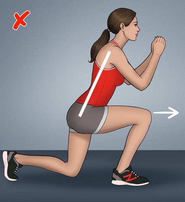 Wrong pose for Lunges
