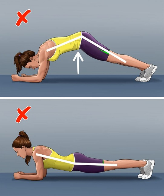 Wrong pose for Plank