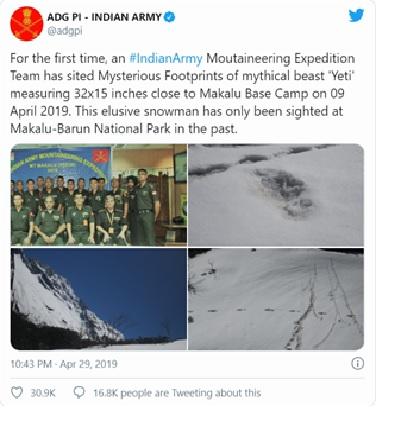 Indian army tweet