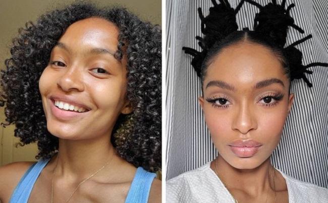 Natural face without makeup