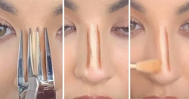 To contour your nose