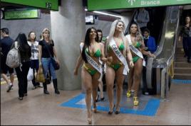 WEIRD PAGEANT...SUZY CORTEZ WINS BRAZIL'S MISS BUM BUM 2015!