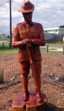 Digger Art in Seaspray town memorial