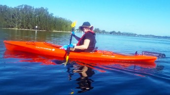 Jo with correct PFD and sunsmart clothing