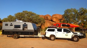 Camping at Karlu Karlu