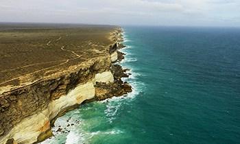 Panoramic image of Great Australian Bight cliff