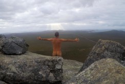 You guessed it I climbed Frenchman Peak by myself in the early morning. Travelling lightweight I made it up in 20 minutes