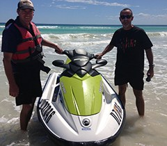CHris and Peter with Jet ski