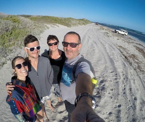 The start of the beach trek