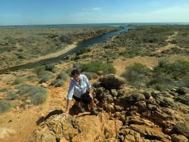 Jo exploring Cape Range