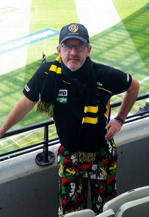In full supporter uniform