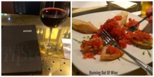 wine and bruschetta