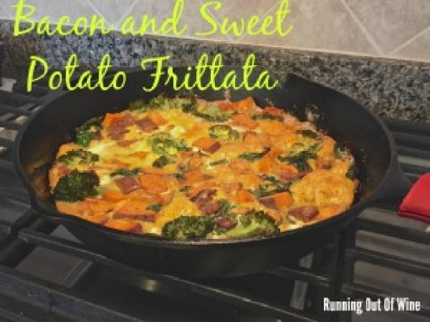bacon and sweet potato frittata