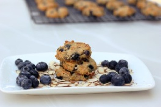 blueberry almond breakfast cookies