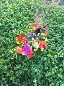 Perhaps the last bucket of flowers?