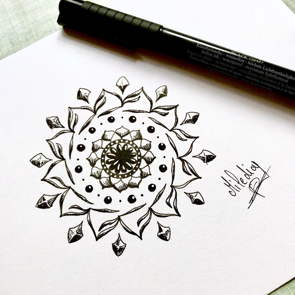 Mandala à motif simples. Par Miledia Craft.