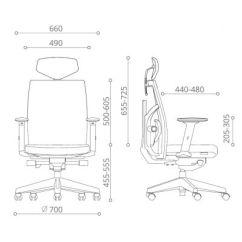 Diagram Of Pneumatic Office Chair Garage Door Parts Frame Tune Mid Back Mes Exec Black Tunembmblkblkblk Meof