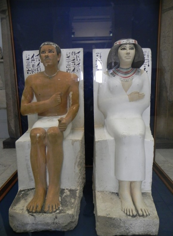 Strong Prince Rahotep and his beautiful wife, Nofret