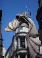 Dragon on top of Gringott's