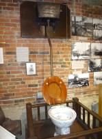 The original flush toilet