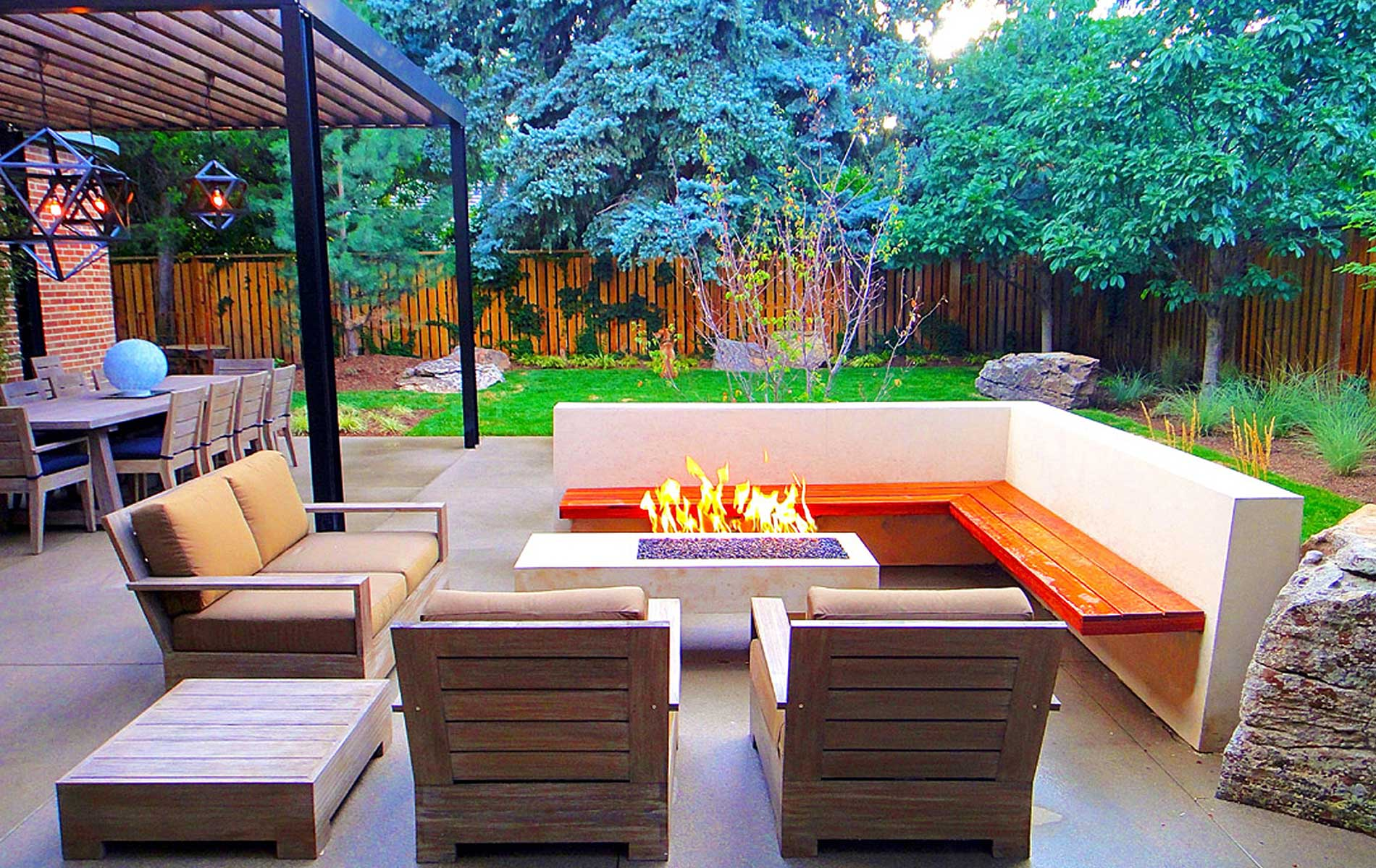 Sleek Modern Outdoor Living Space in Park Hill  Mile High