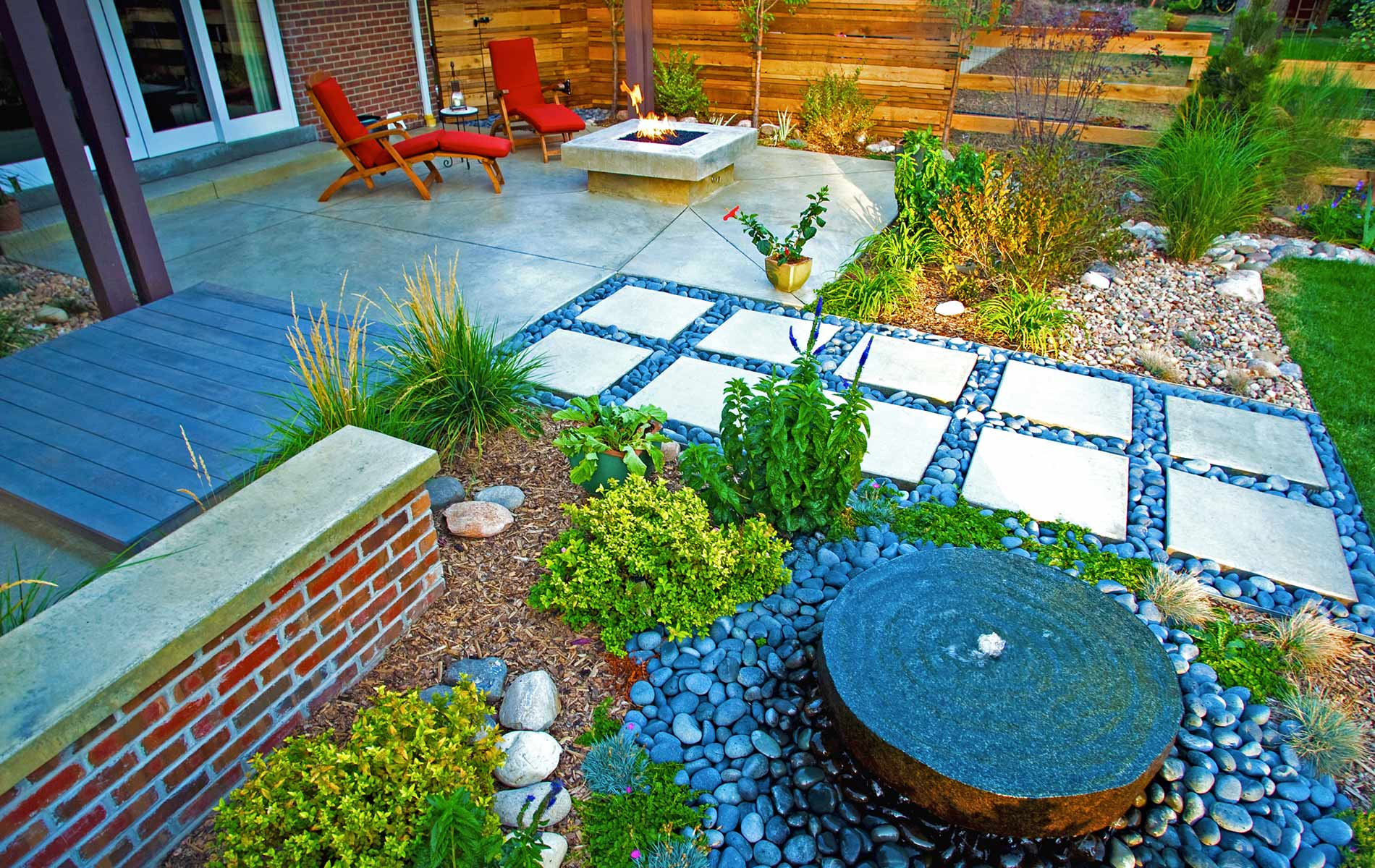 Award Winning Outdoor Room with Custom Milled Arbor  Mile High Landscaping