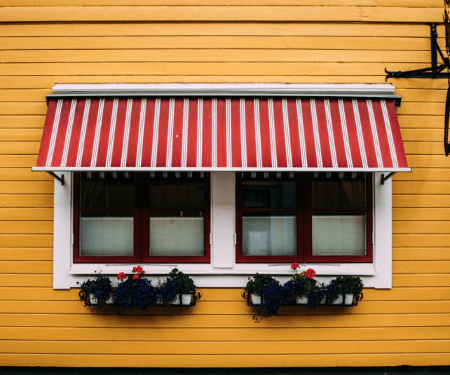 Window with awning