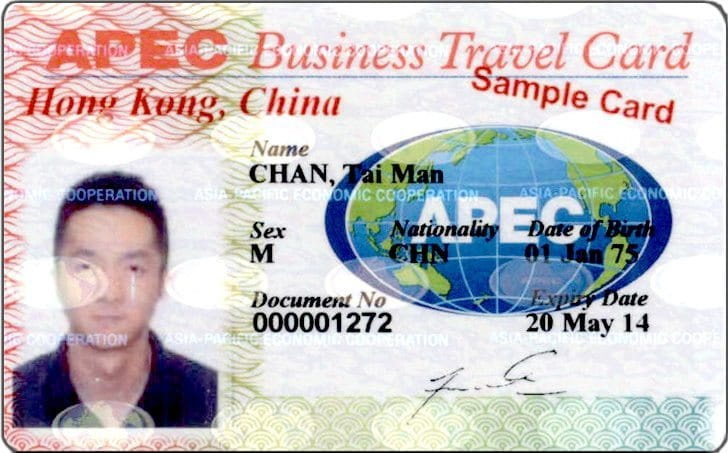 Image result for apec business travel card