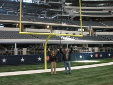 Chris and Pam touchdown Dallas Stadium 2011 SB