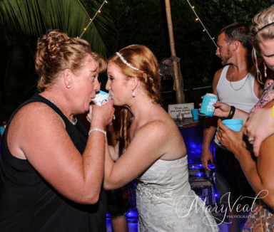 Fireball Sno cone Bride & Mom
