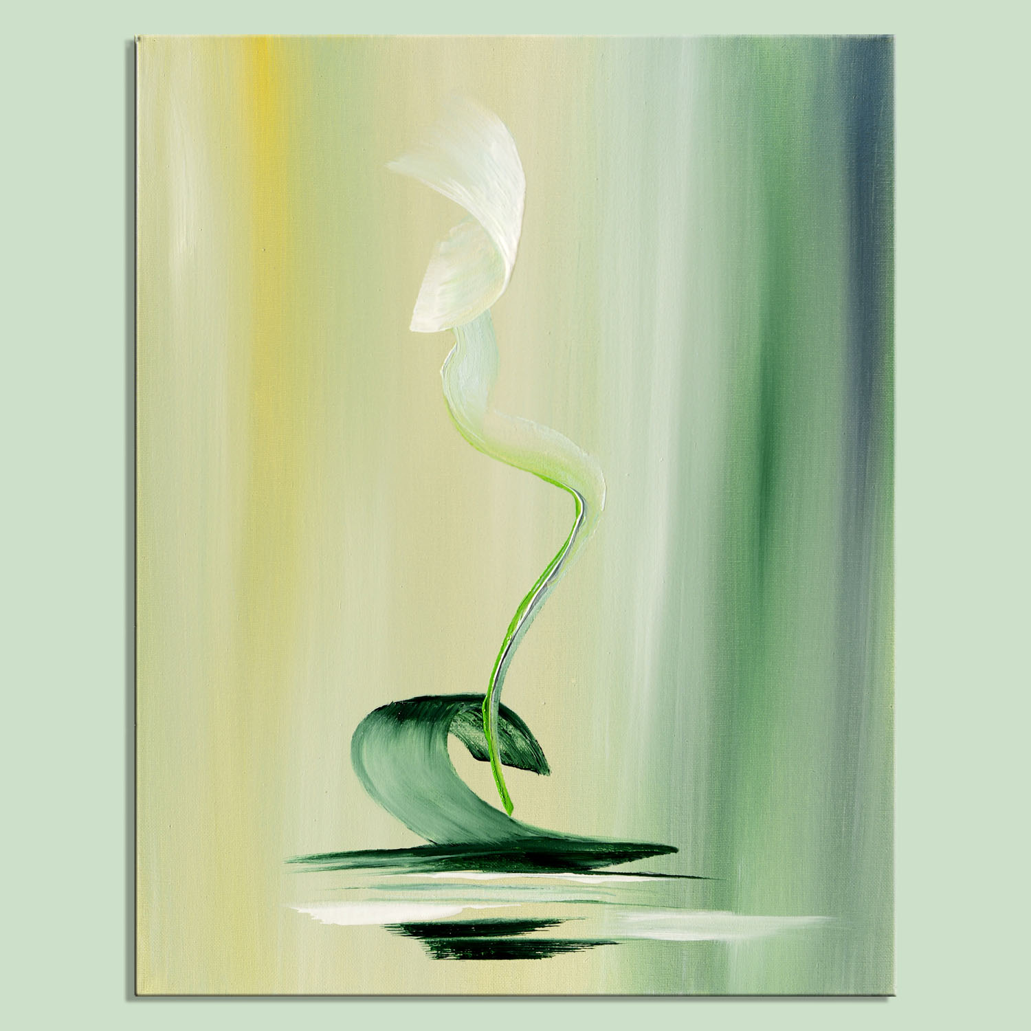 green dream abstract painting