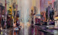 Purple Rain  abstract cityscape  SOLD  Abstract ...