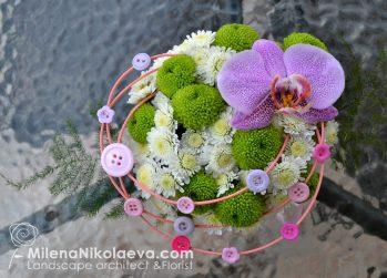 Аранжировка цветя с копчета