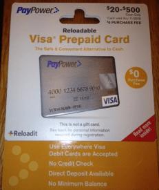 confirmed paypower prepaid visa cards are going fee free milenomicscom - Reloadable Visa Debit Card