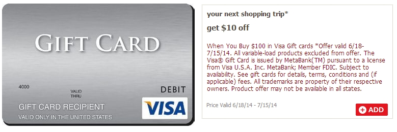 not the best deal variable load cards to not work with this one - 15 Visa Gift Card