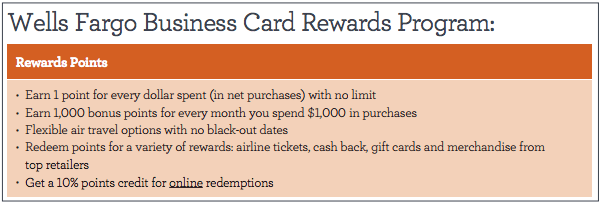 Wells fargo business platinum 500 offer existing checking account note that this wells fargo business card rewards program is distinct from the consumer gofar rewards though depending on how you interpret language on reheart Images