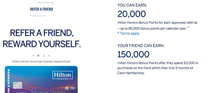 Amex Hilton Refer-a-Friend Offers - milenomics