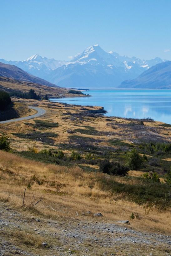 Lake Pukaki, Neuseelnad, Südinsel, New Zealand, See, Gletschersee, eisblau, wunderschoen, Landschaft, Landscape, beautiful