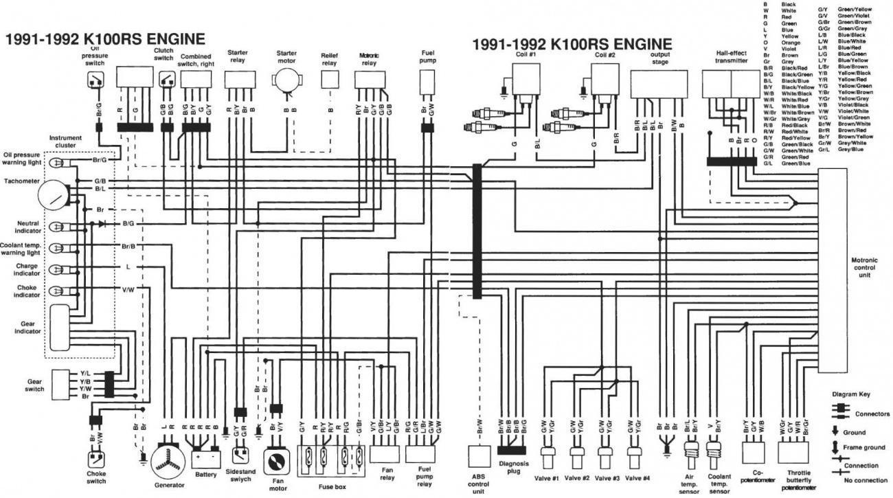hight resolution of 1991 1992 bmw k100rs wiring diagramwiring diagram bmw k100 5