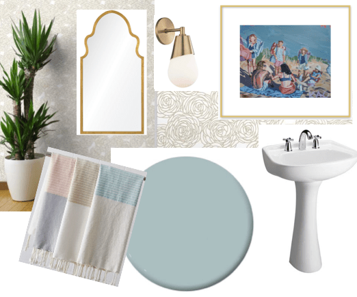 Updated Powder Room Vision Boards