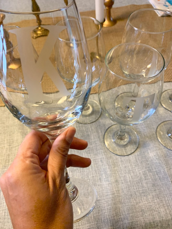 DIY: Etched Wine Glasses