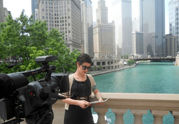 working as an MTV VJ in Chicago.