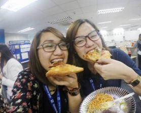Panic eating: Pizza!