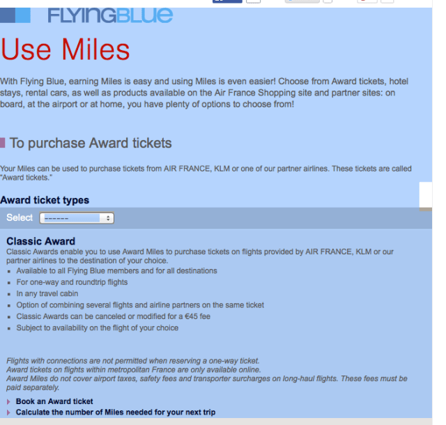 flying blue use miles step 2
