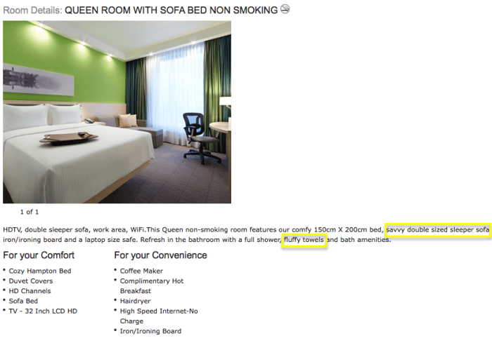hilton minsk room description
