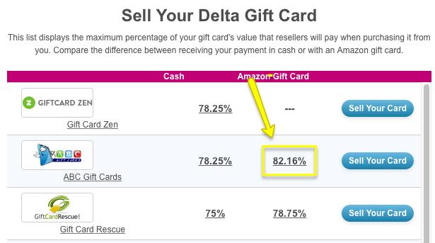 delta gift card
