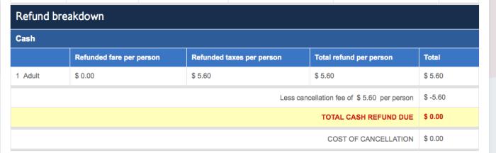 Avios refund